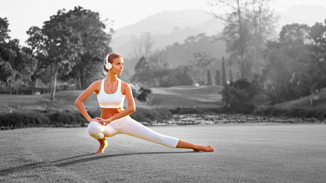 Music during yoga