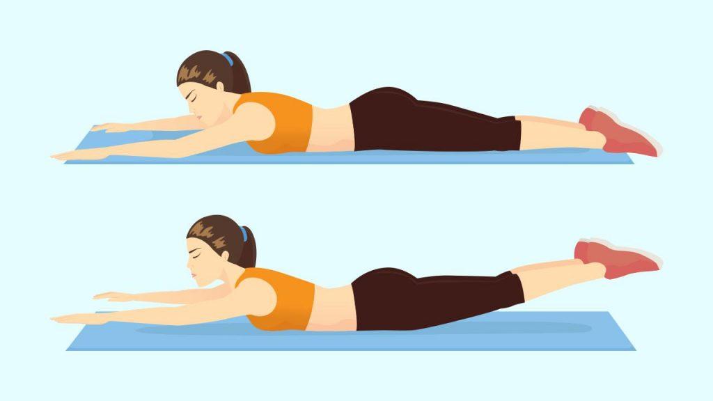 Gym core exercise: Supermans