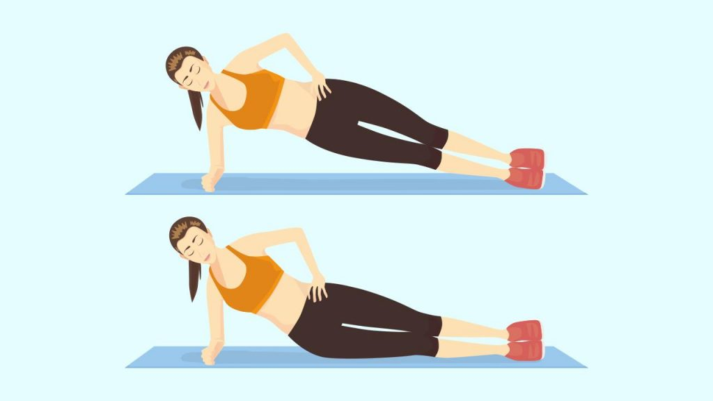 Gym core exercise: Side plank
