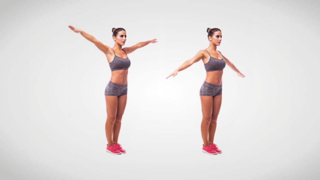 Dynamic stretches for runners: Arm swings or circles