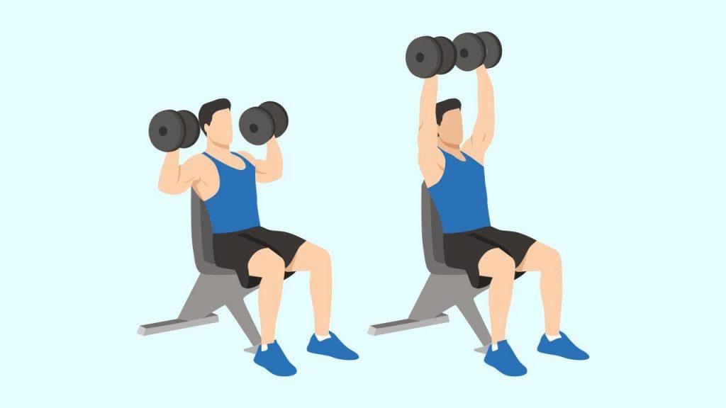 Gym upper body exercise: Shoulder press