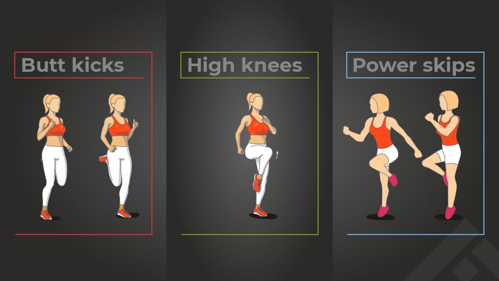 Running drills for correct posture and form