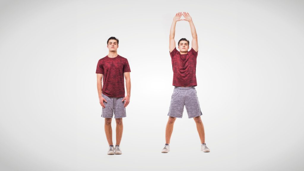 Dynamic stretches for runners: Jumping jacks