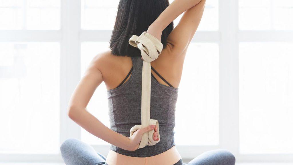 strap as yoga prop