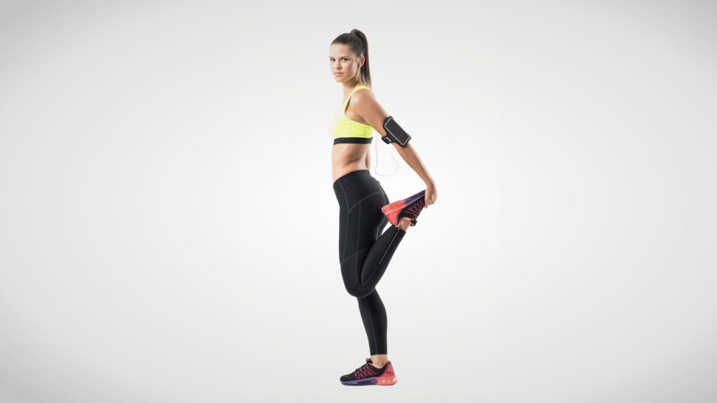 Static stretches for runners: Standing/lying quadriceps stretch