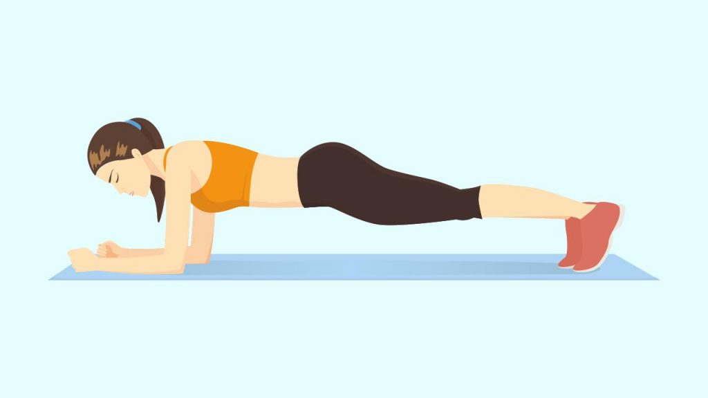 Gym core exercise: Plank