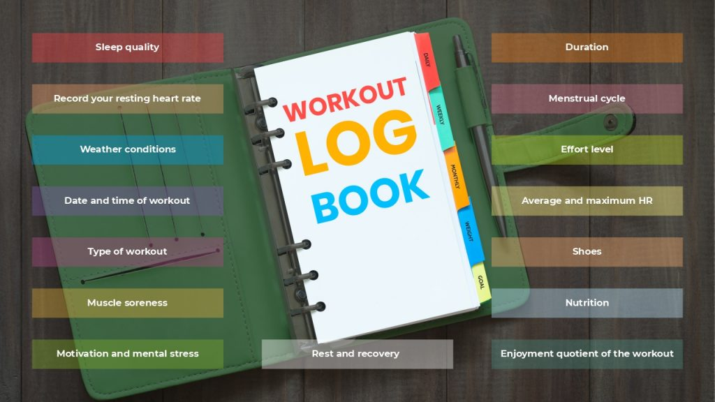 What should be in your training logbook