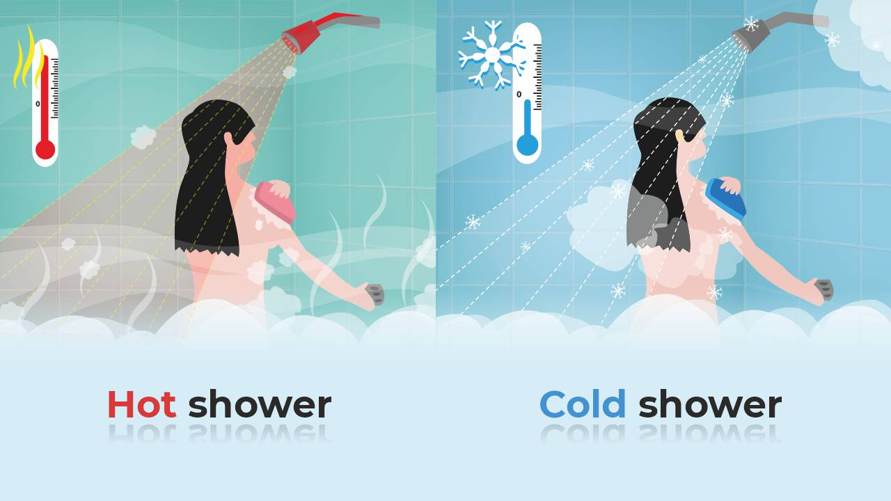 hot or cold shower