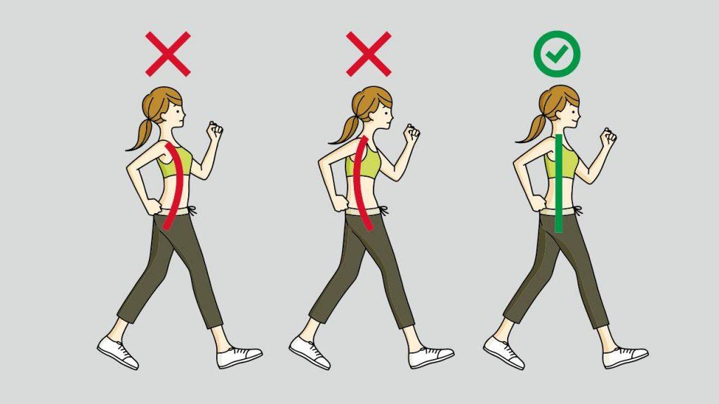 Correct walking form