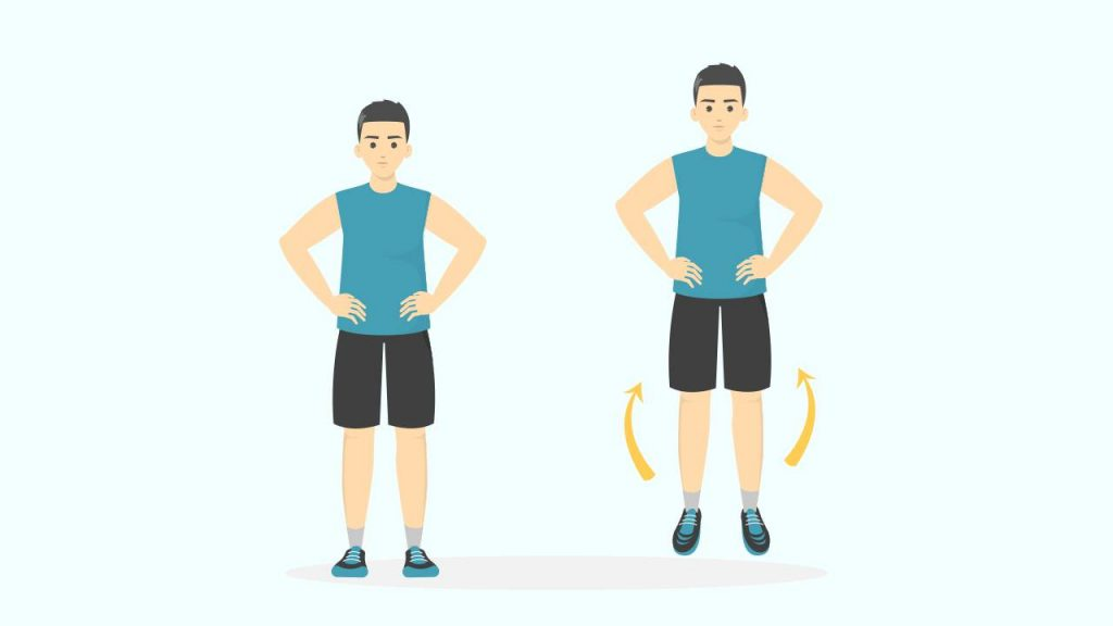Exercises to strengthen the Achilles tendons: Hops