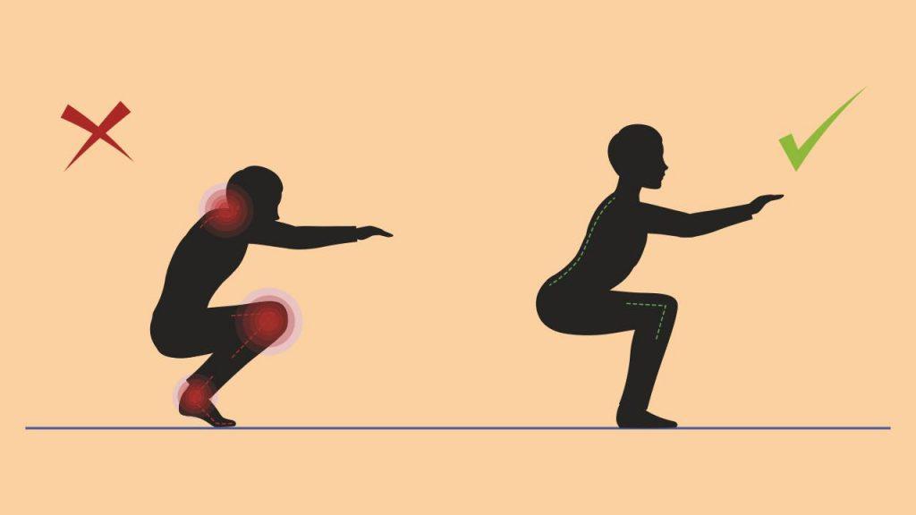 Form for a proper squat