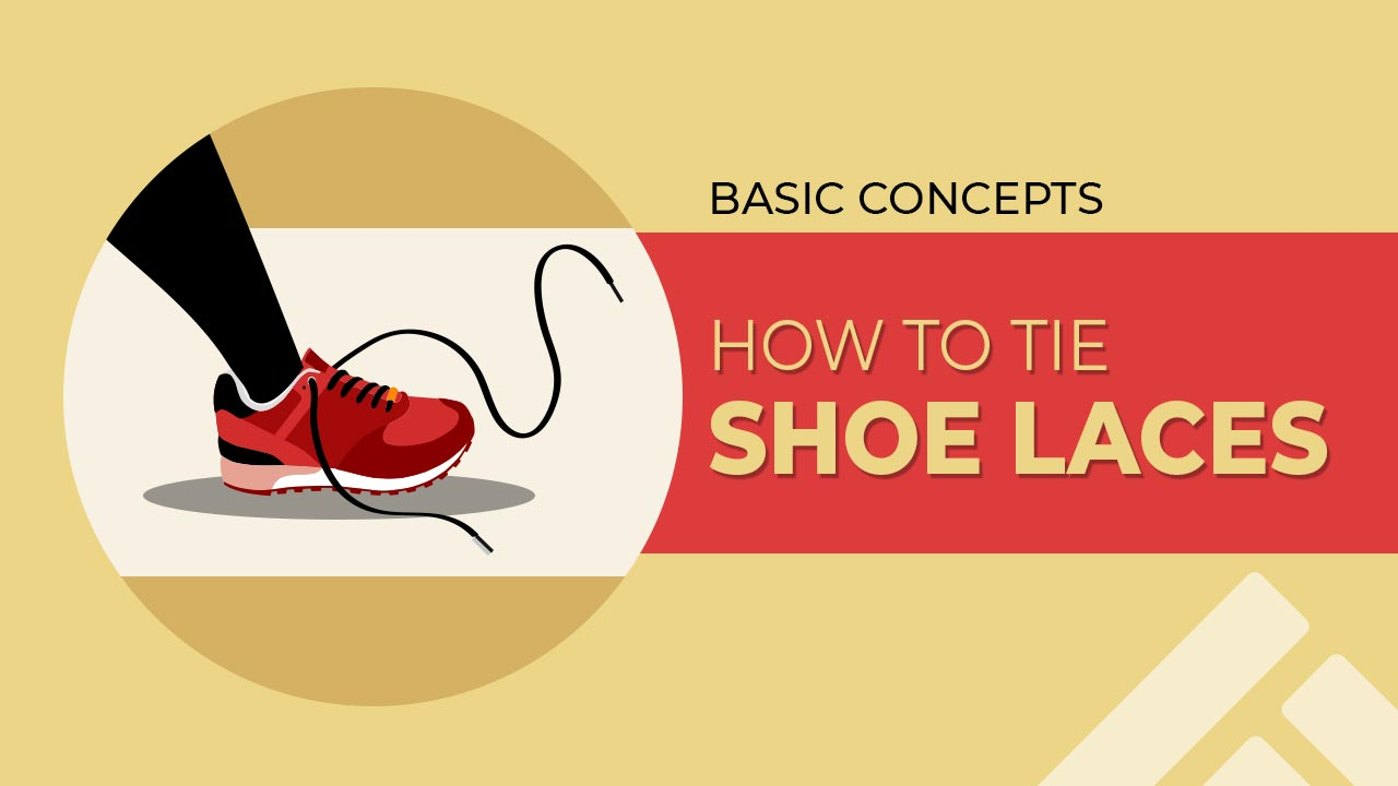 How to tie shoes laces