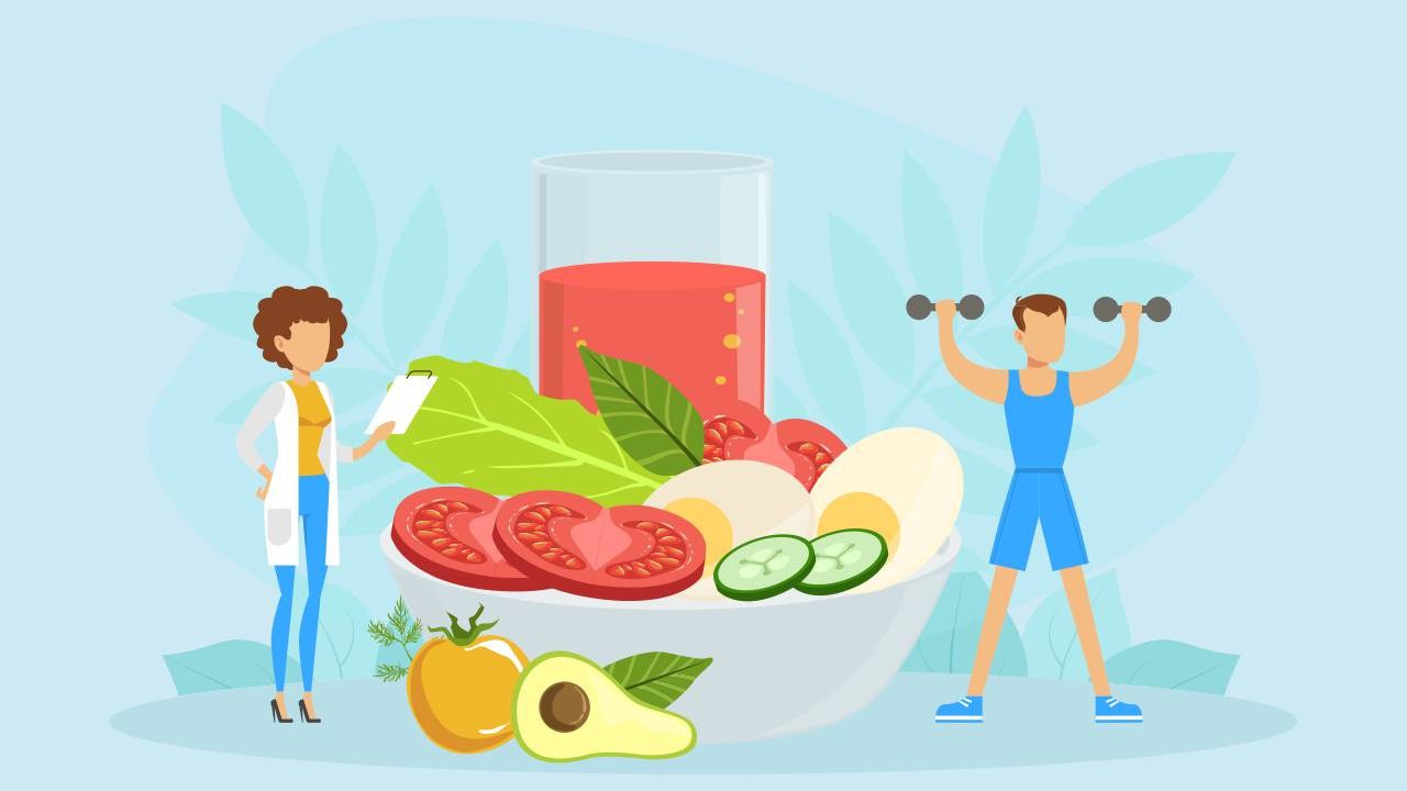 working out with right nutrition