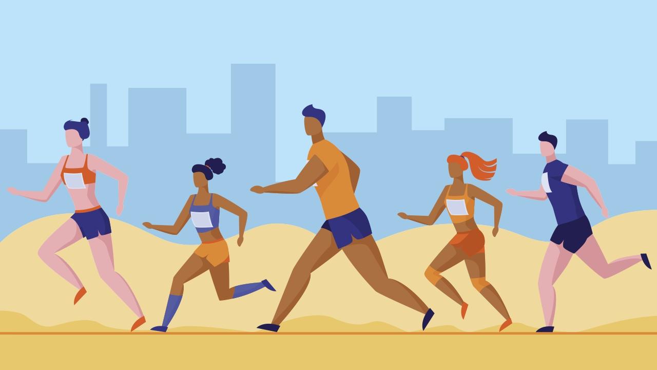 even positive and negative splits in a marathon