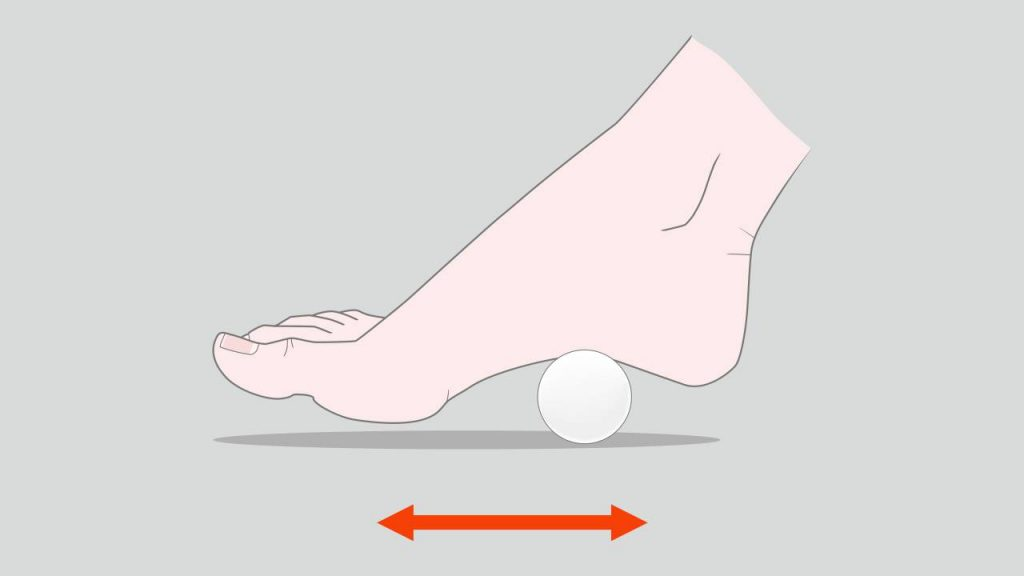 Exercises for plantar fasciitis: Ball rolling