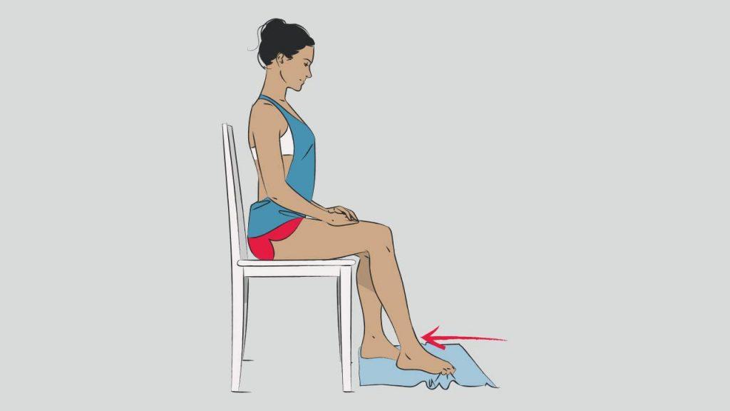 Exercises for plantar fasciitis: Towel curl