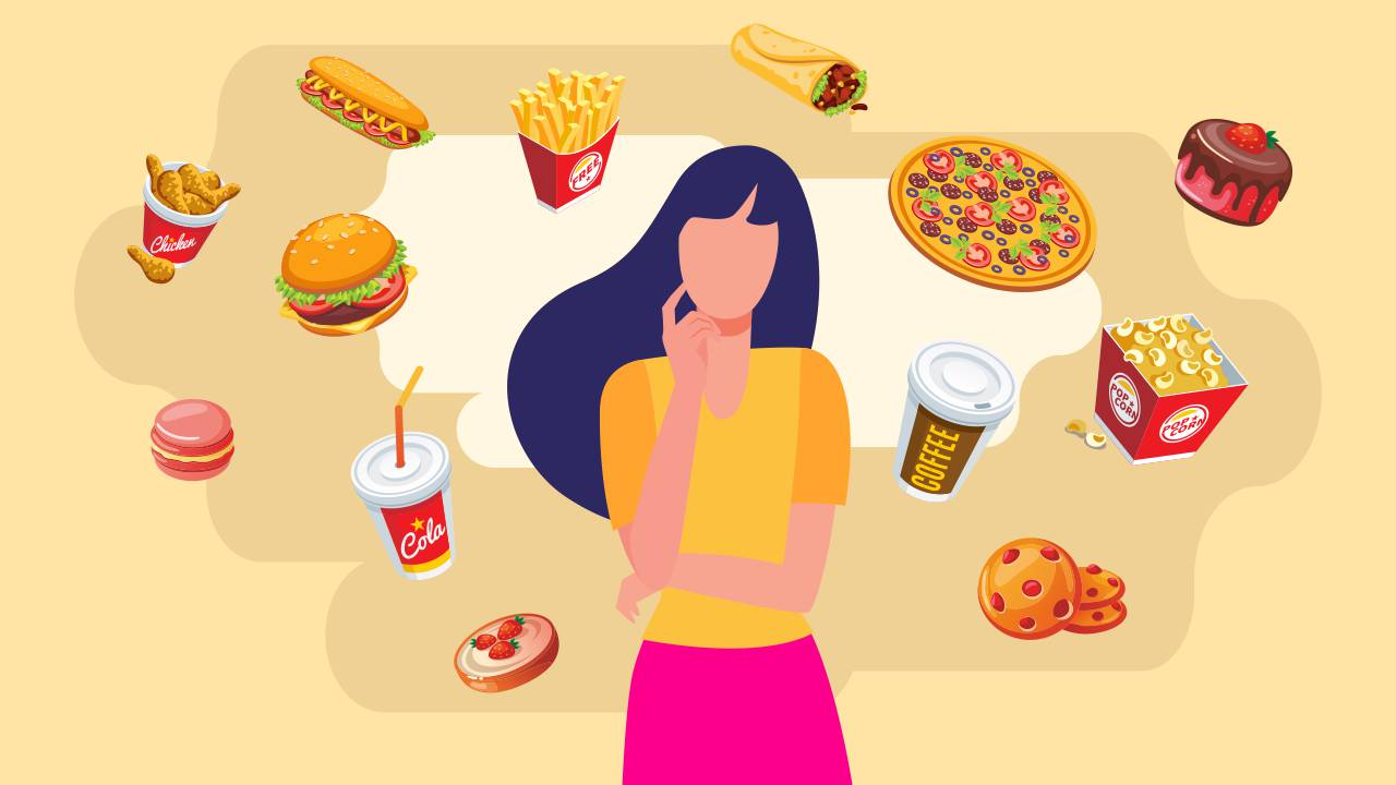 girl thinking about cheat meals