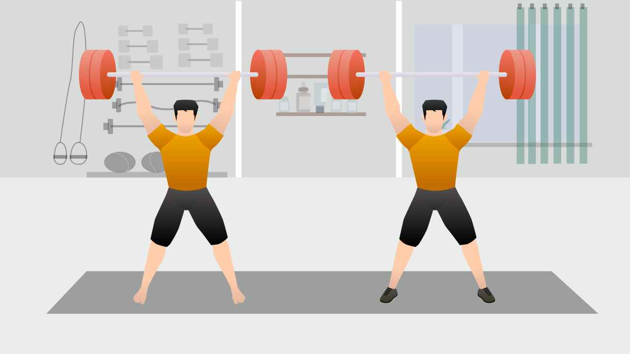 Lifting weight with shoes and lifting weights barefoot