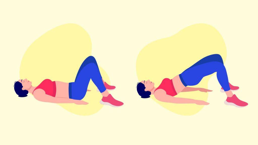 Bodyweight exercises: glute bridges