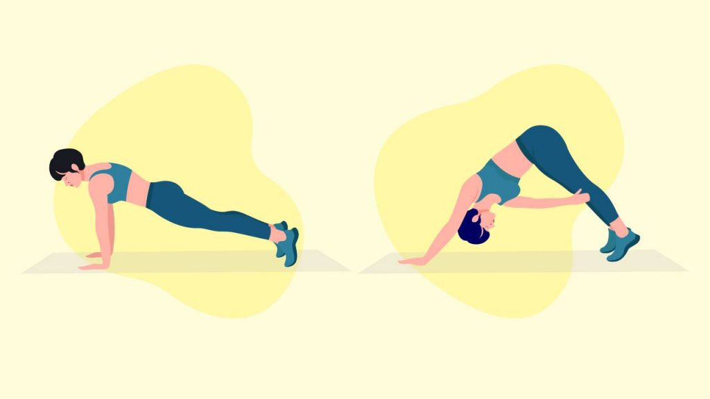 Bodyweight exercises: Knee-tap planks
