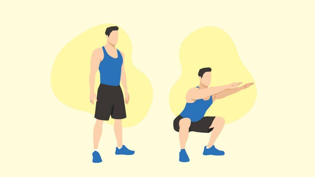 Bodyweight exercises: bodyweight squats