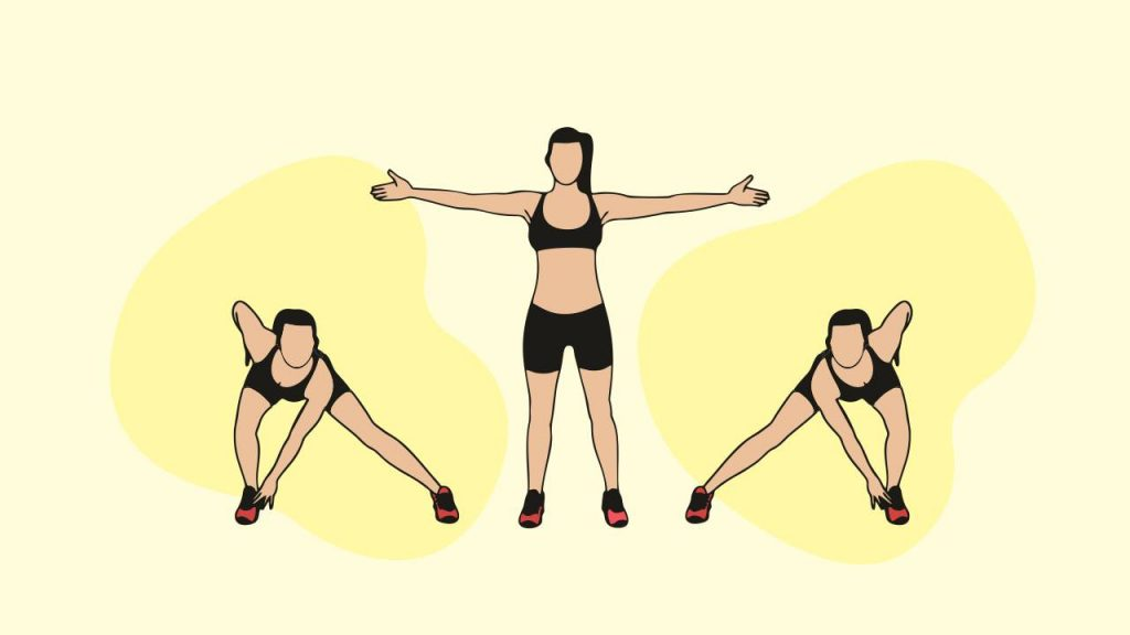 Bodyweight exercises: lateral lunges