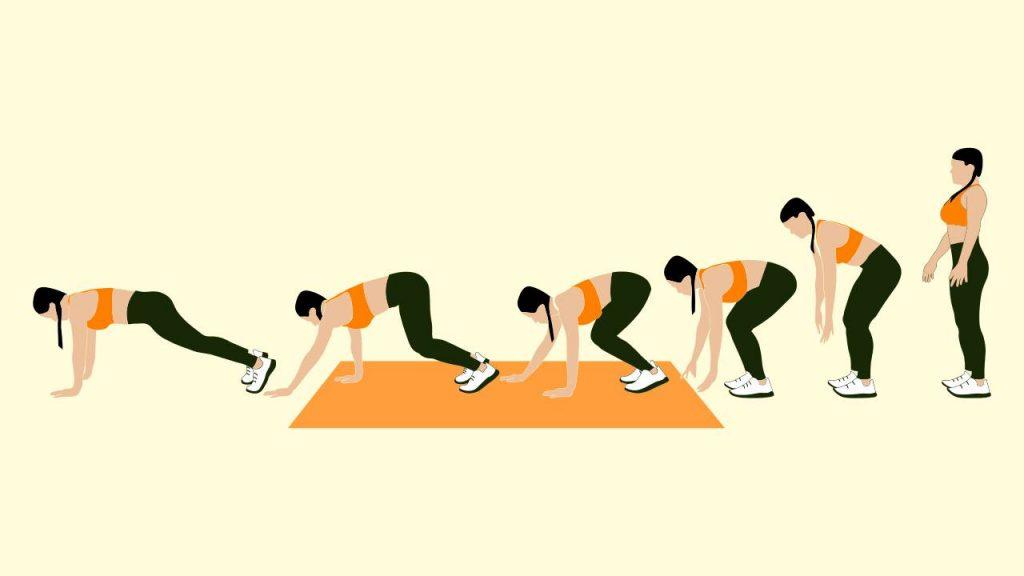 Bodyweight exercises: inchworm walkouts