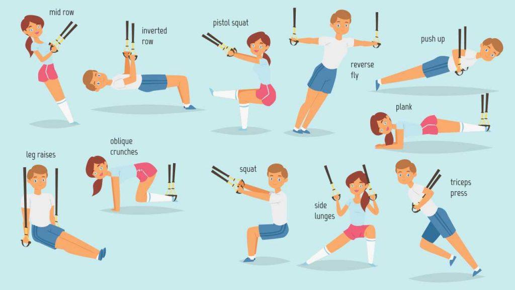 Suspension trainer exercises