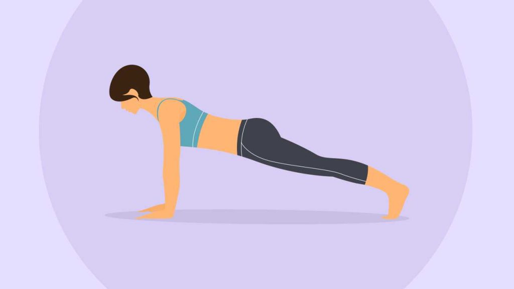 Yoga poses for core strength: Plank
