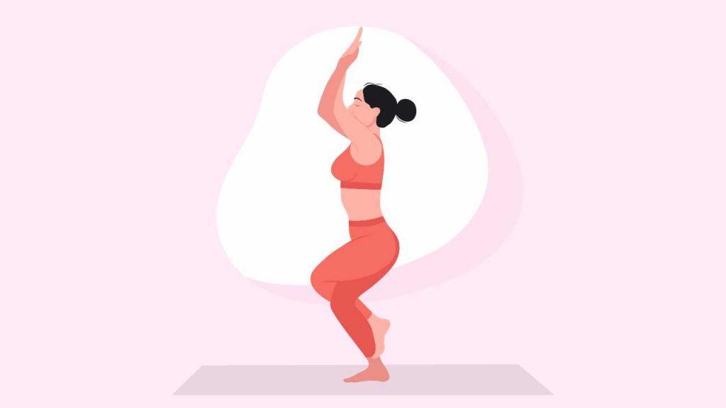 Yoga to improve balance: Garudasana or eagle Pose