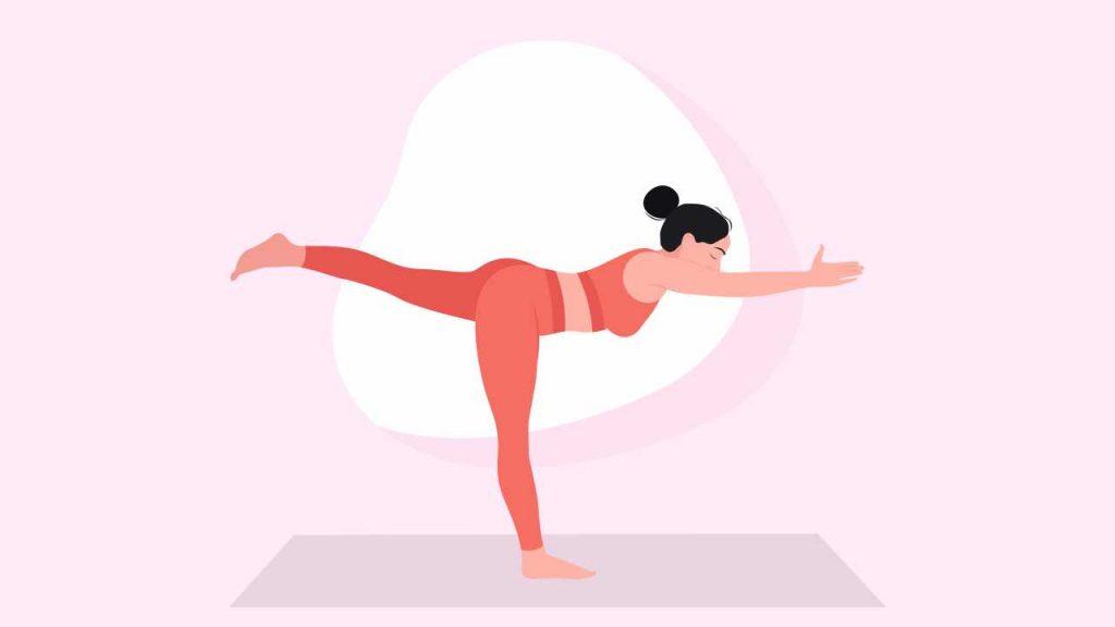 Yoga to improve balance: Warrior III