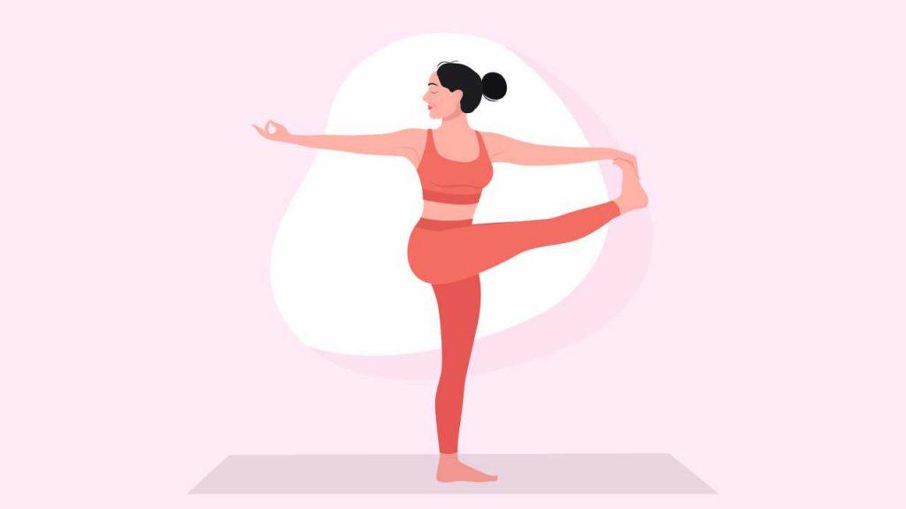 Yoga to improve balance: Utthita Hasta Padangusthasana or extended hand-to-big-toe pose