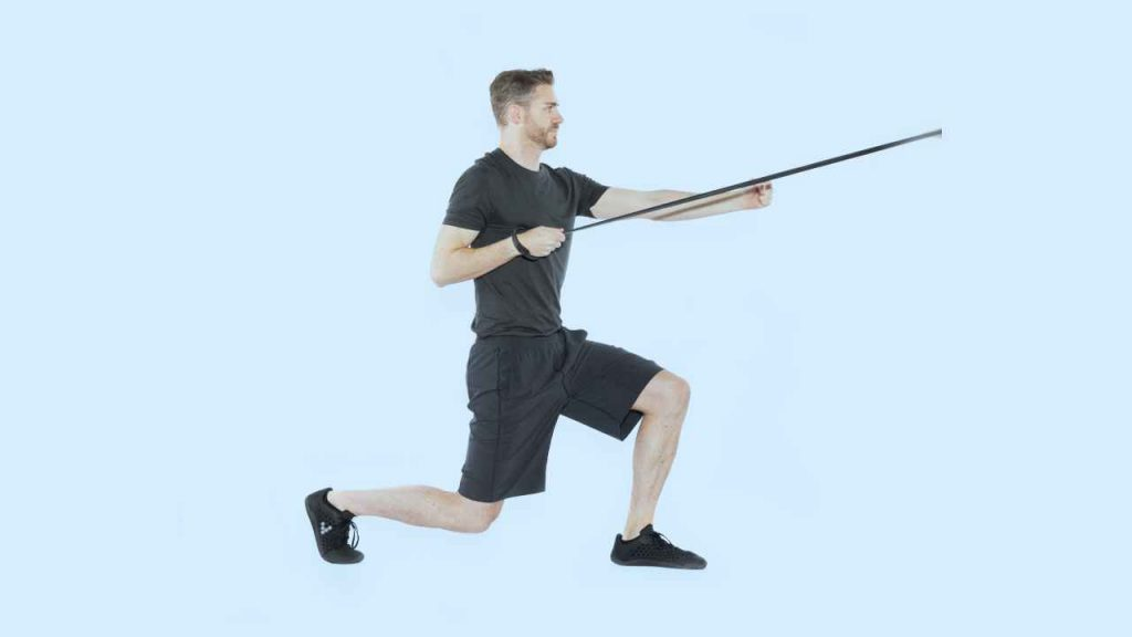 Lunge with single-arm row
