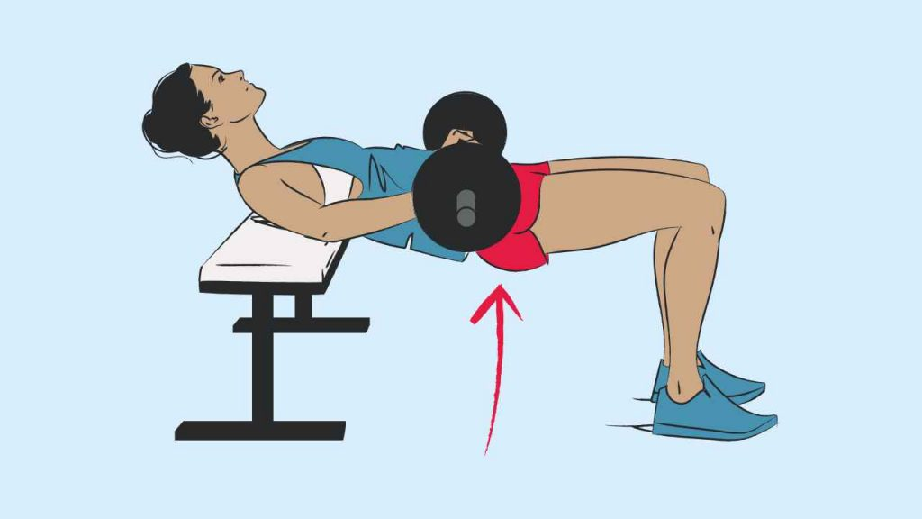 Hip thruster exercise